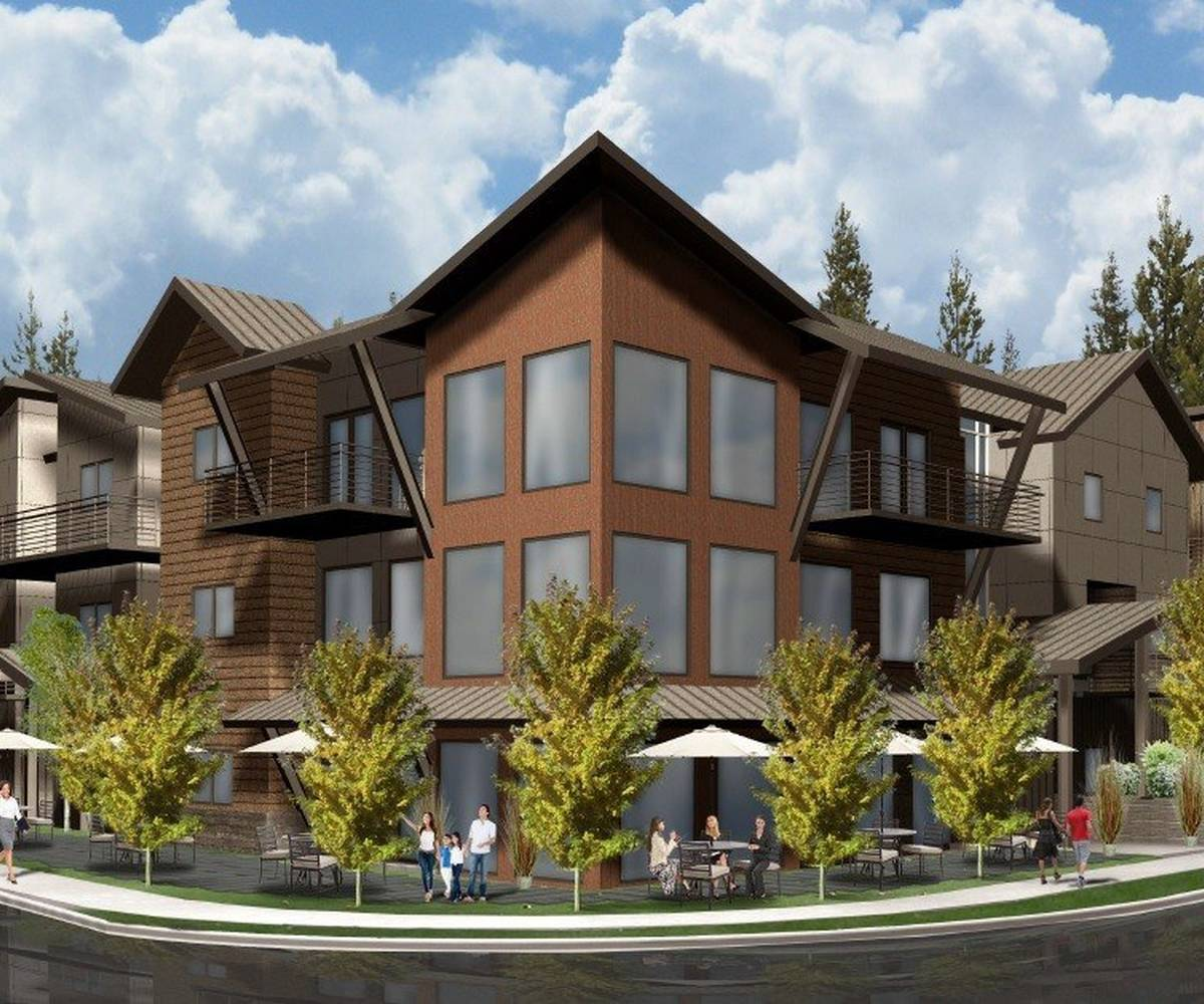 Exterior Rendering of Lake Apartments