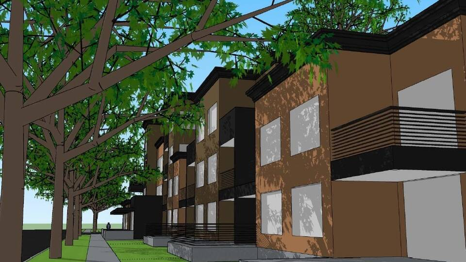 Exterior mock-up of Apartments